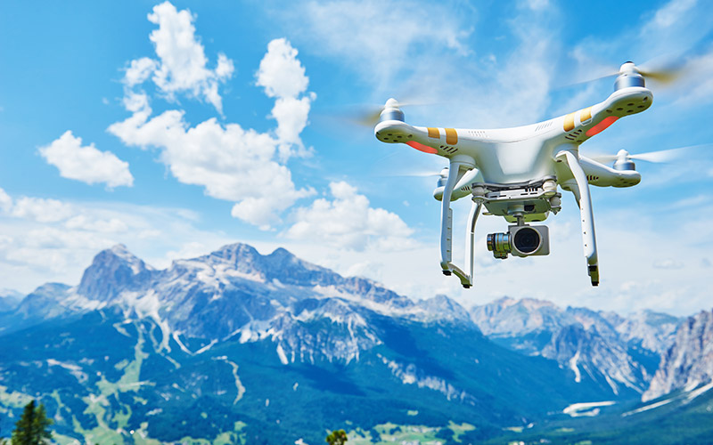 Image of DJI Phantom in Mountains