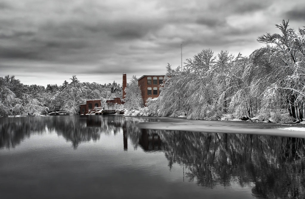 Image of Old Mill in Winter