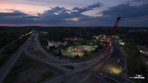 Image of Aerial Sunset over Construction Site