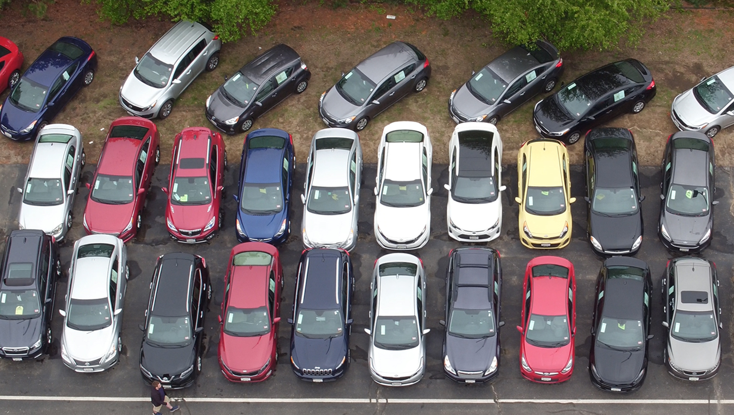 Aerial Image of Kia Inventory