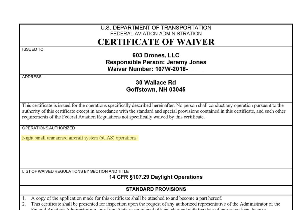 Image of FAA Daylight Waiver