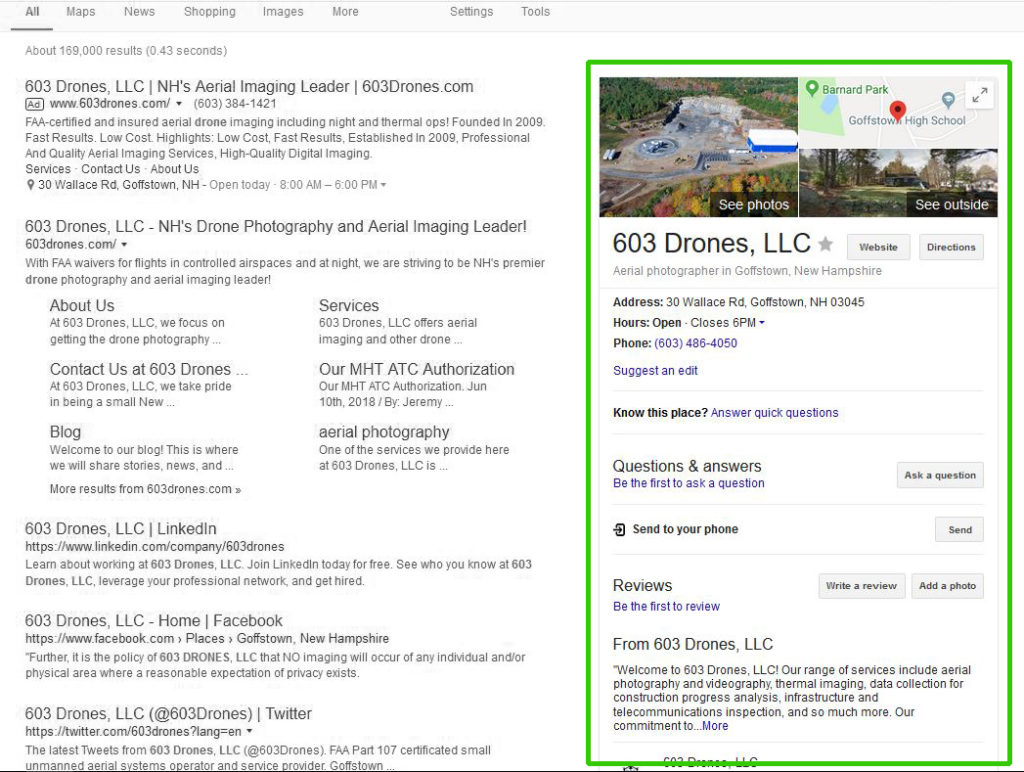 Image of Google My Business Results