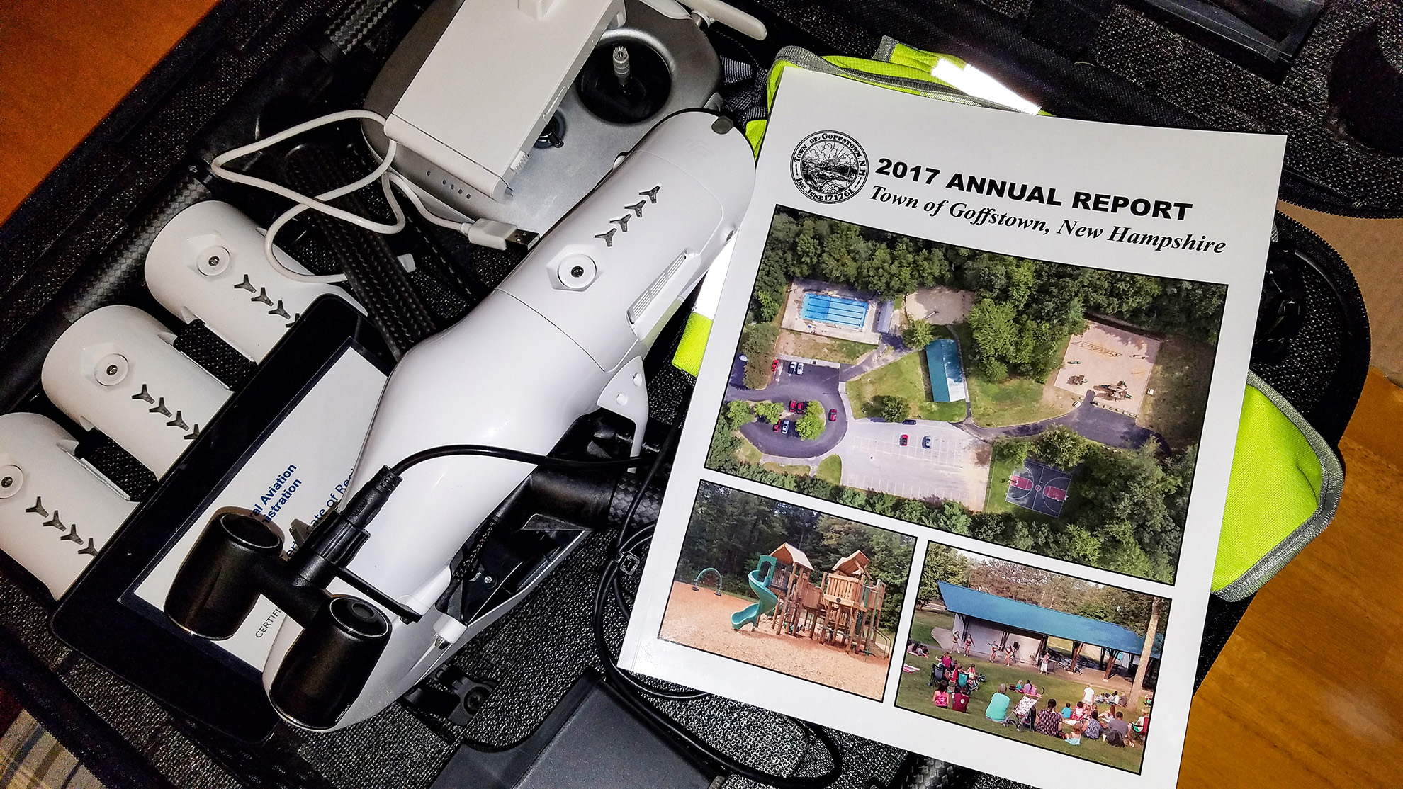 Image of DJI Inspire with Town Report