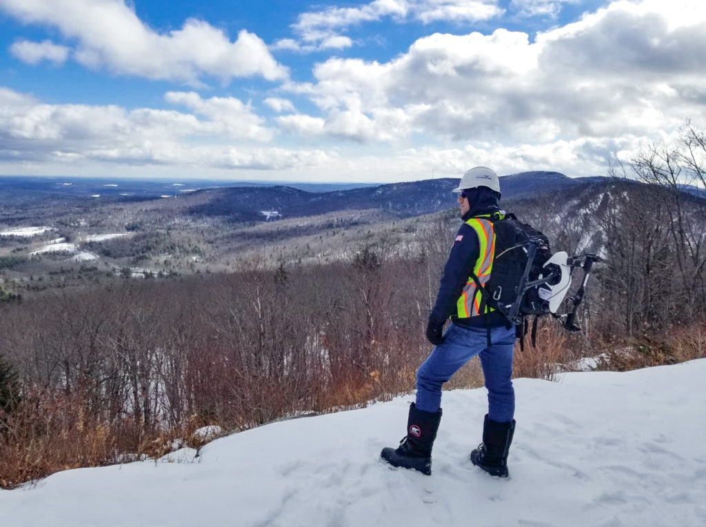 Image of Winter Hiking with Drone