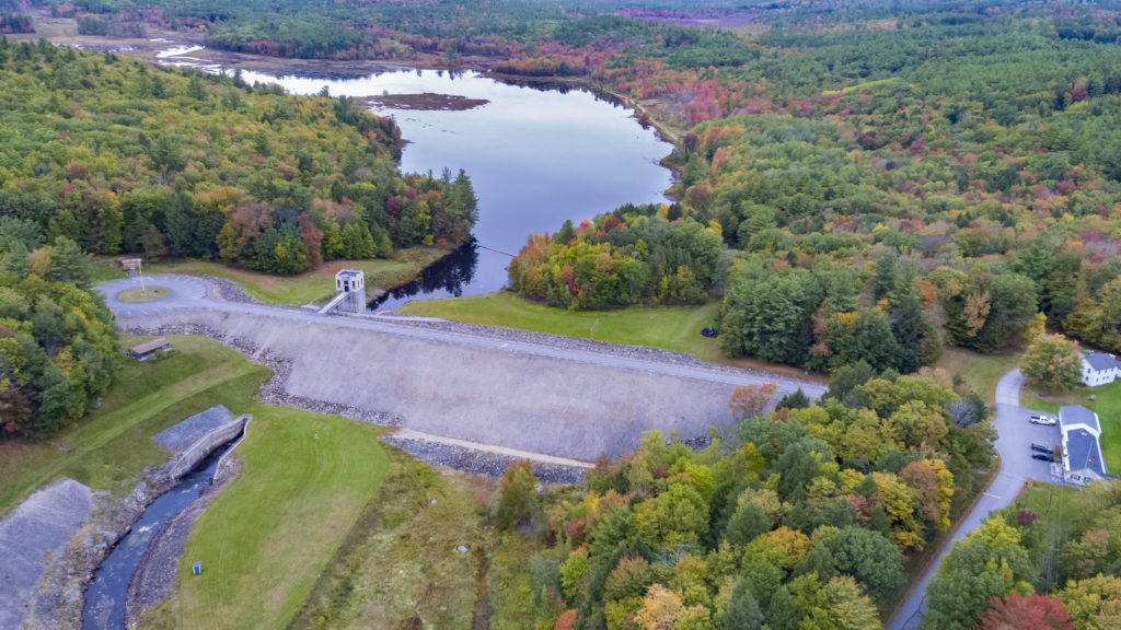 Image of MacDowell Dam by Drone