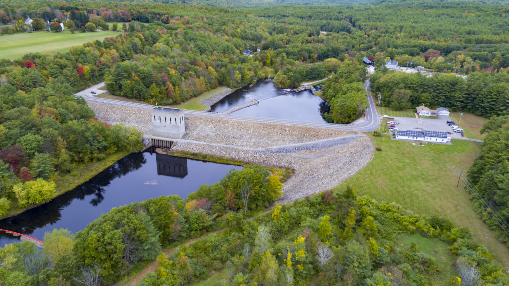 Image of Hopkinton Dam by Drone
