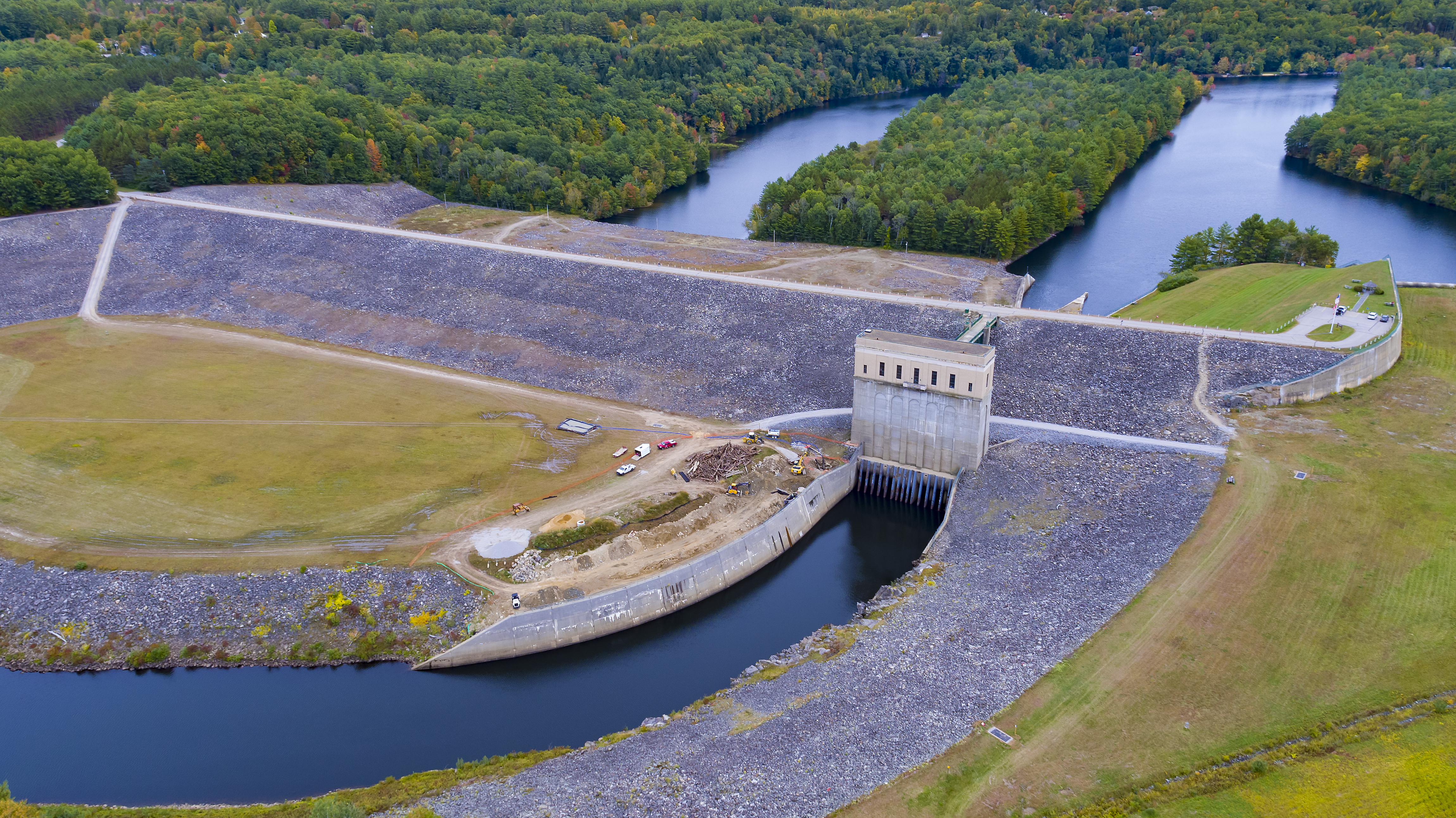Image of Franklin Falls Dam by Drone
